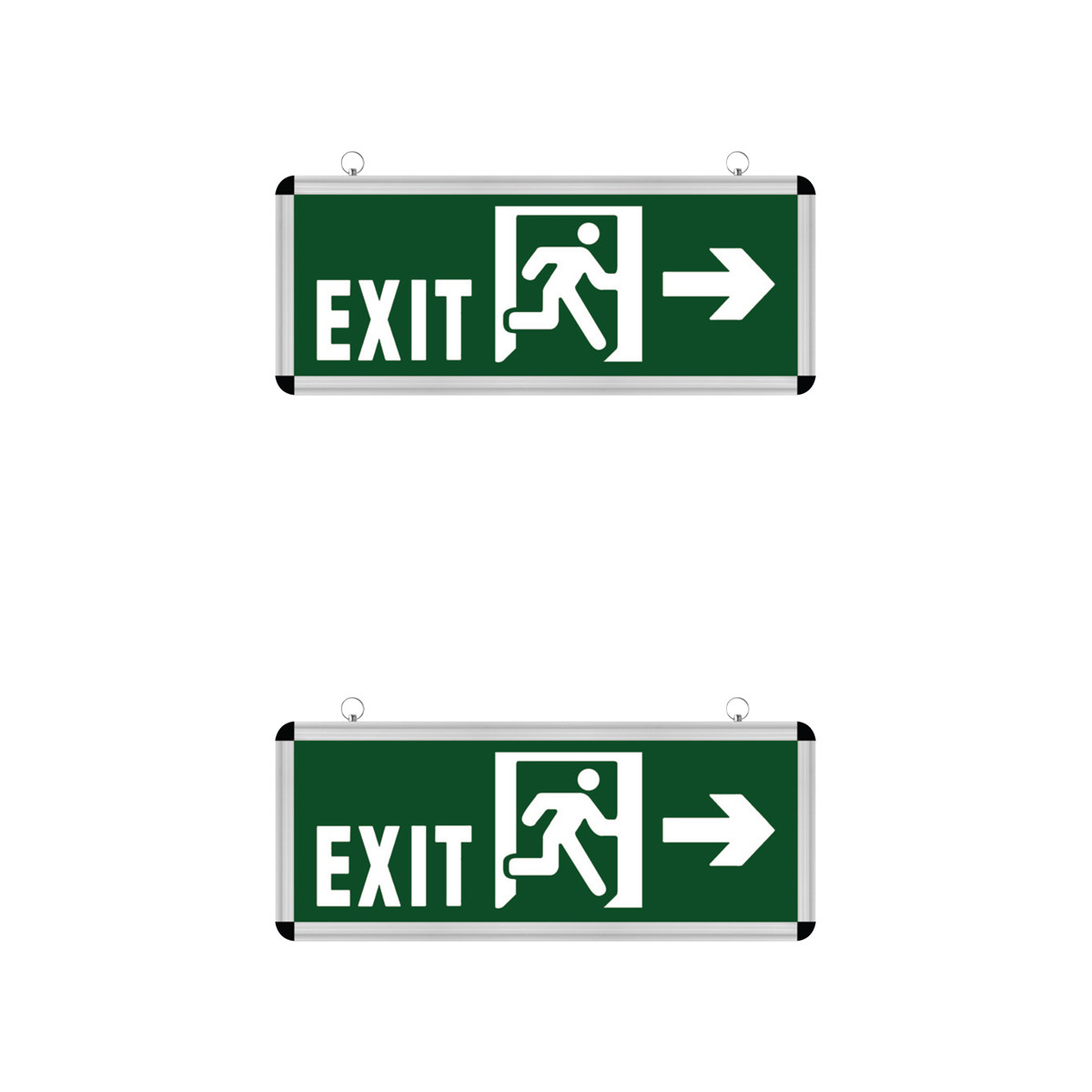 LED Noodverlichting Exit - 2 Pack - Rabonta Links/Rechts - Hangend - 3W