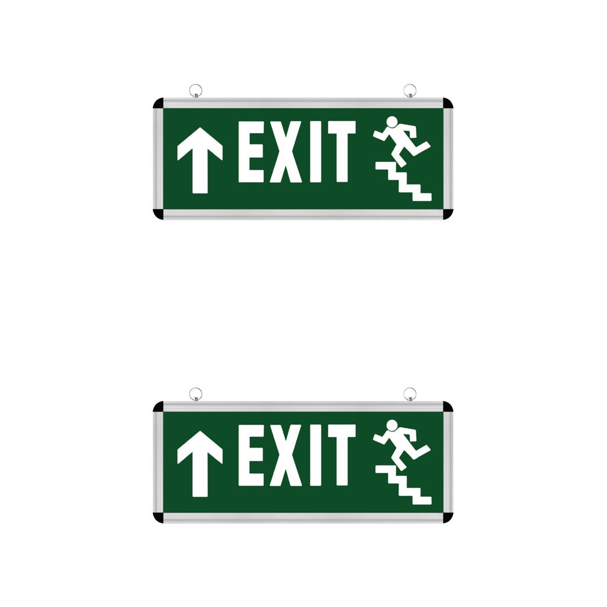 LED Noodverlichting Exit - 2 Pack - Rabonta Omhoog - Hangend - 3W