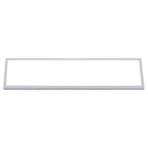 LED Paneel - 30x120 Helder/Koud Wit 6400K - 36W Opbouw Rechthoek - Mat Wit - Fli