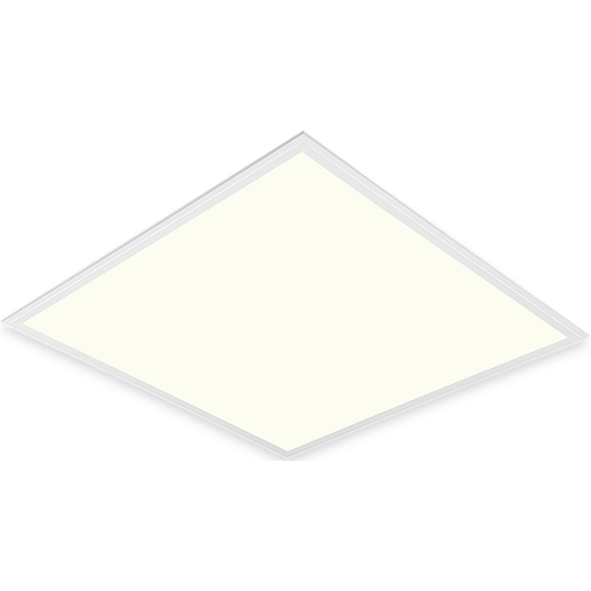 LED Paneel - Aigi Clena - 60x60 Natuurlijk Wit 4000K - 40W Inbouw Vierkant - Mat Wit - Flikkervrij