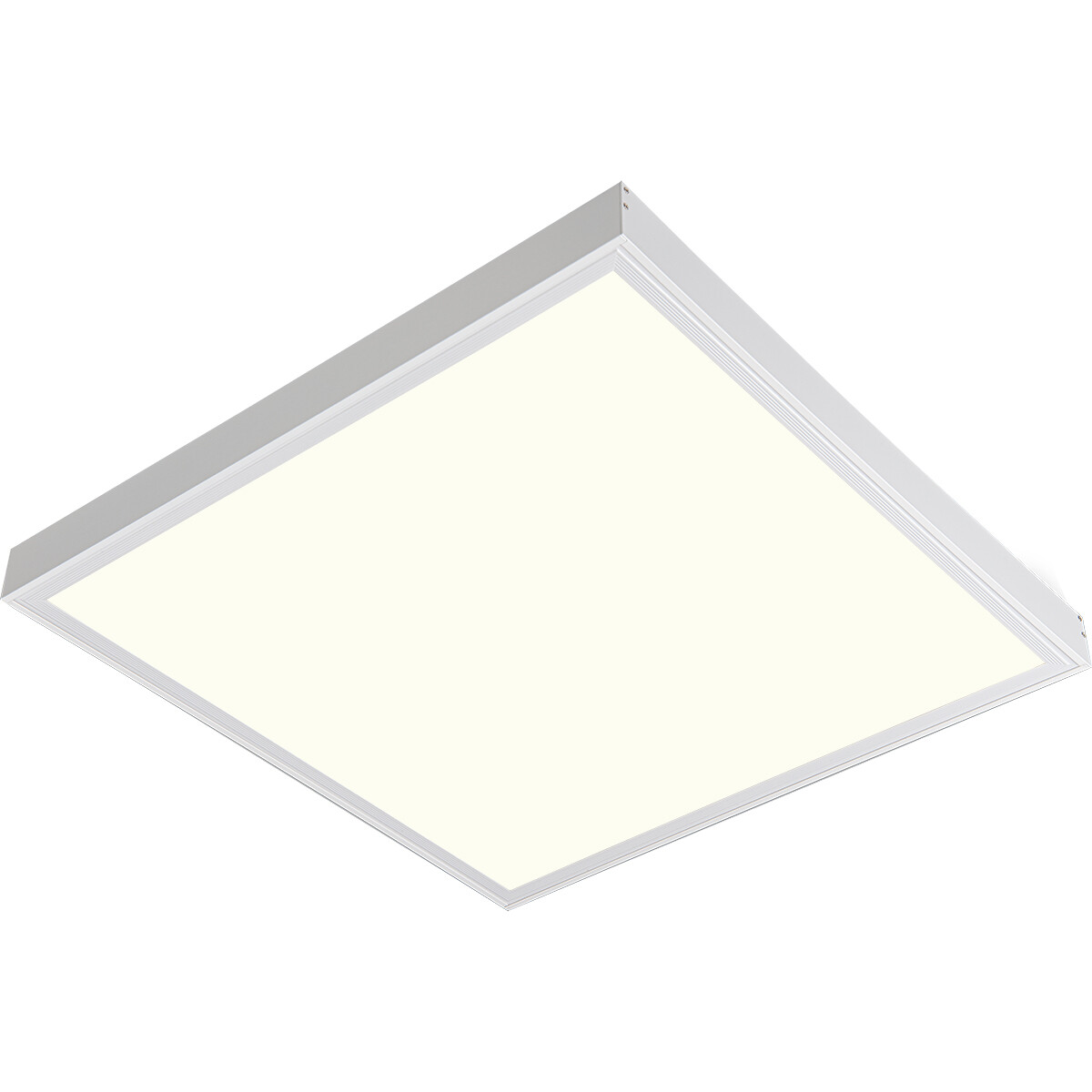 LED Paneel - Aigi Clena - 60x60 Natuurlijk Wit 4000K - 40W Opbouw Vierkant - Mat Wit - Flikkervrij