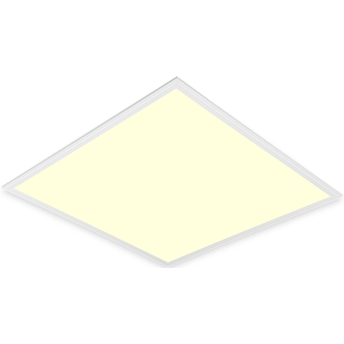 LED Paneel - Aigi Clena - 60x60 Warm Wit 3000K - 40W Inbouw Vierkant - Mat Wit - Flikkervrij