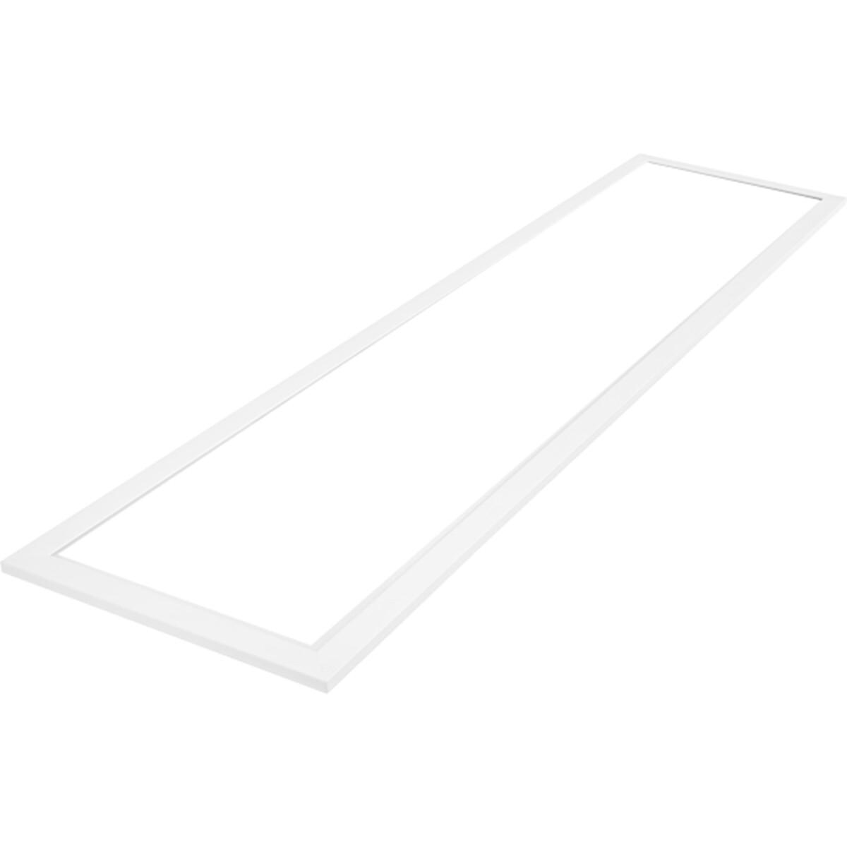 LED Paneel - Aigi - 30x120 Helder/Koud Wit 6000K - 40W Inbouw Rechthoek - Mat Wit - Aluminium - Flik