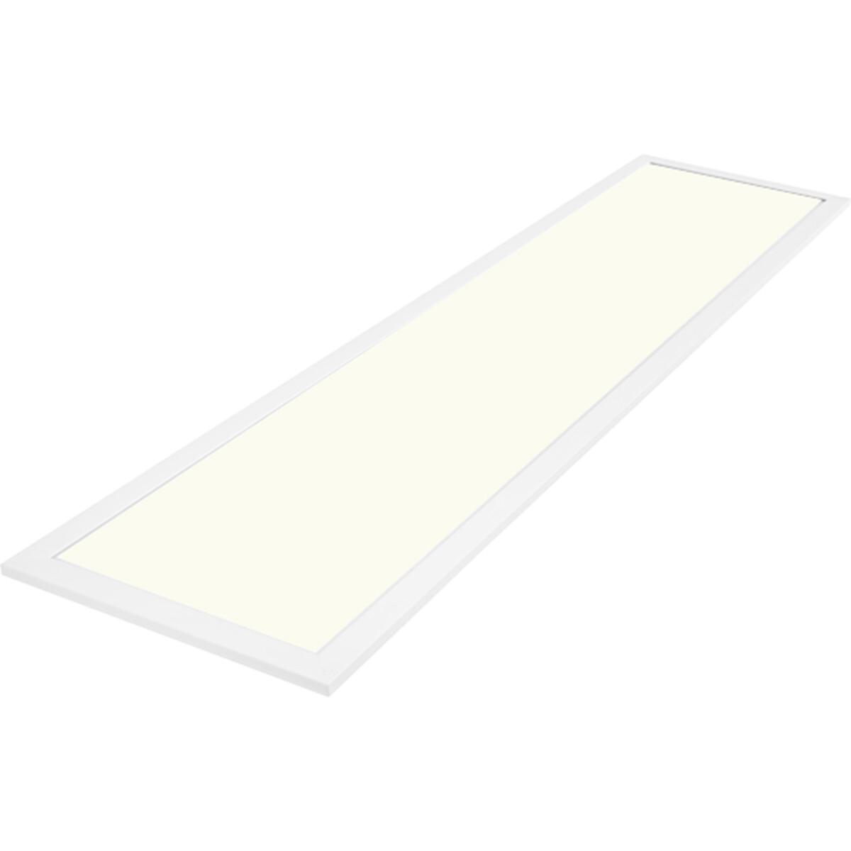 LED Paneel - Aigi - 30x120 Natuurlijk Wit 4000K - 40W Inbouw Rechthoek - Mat Wit - Aluminium - Flikk