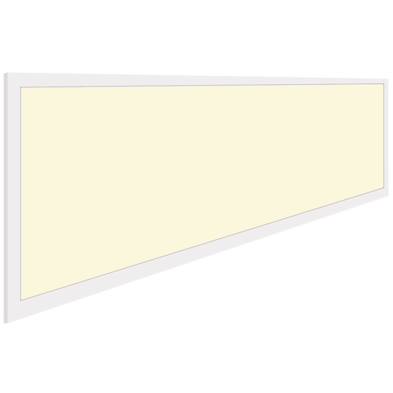 LED Paneel - Aigi - 30x120 Warm Wit 3000K - 40W Inbouw Rechthoek - Inclusief Stekker - Mat Wit - Fli