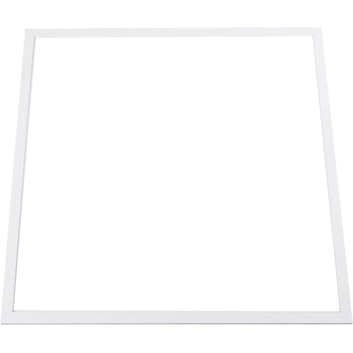 LED Paneel - Aigi - 60x60 Helder/Koud Wit 6000K - 50W Inbouw Vierkant - Mat Wit - Aluminium - Flikkervrij