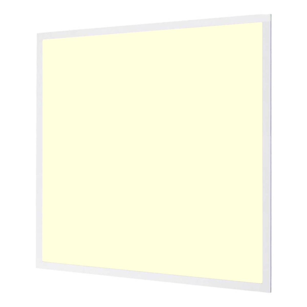 LED Paneel - Aigi - 60x60 Warm Wit 3000K - 32W High Lumen - Inbouw Vierkant - Inclusief Stekker - Mat Wit - Flikkervrij