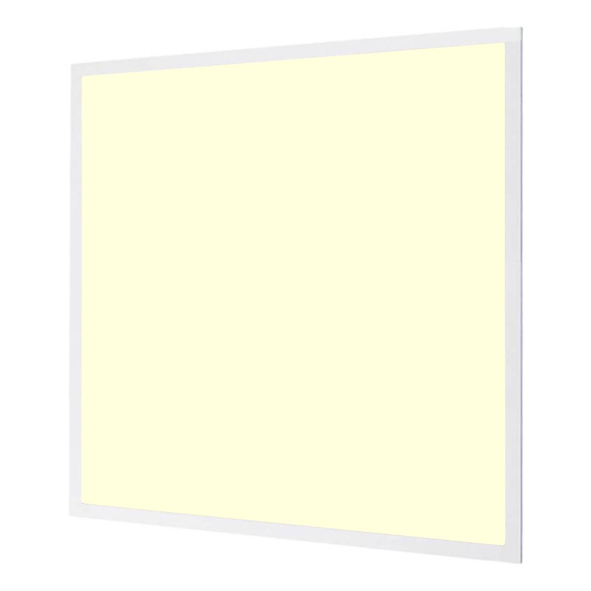 LED Paneel - Aigi - 60x60 Warm Wit 3000K - 40W Inbouw Vierkant - Inclusief Stekker - Mat Wit - Flikkervrij