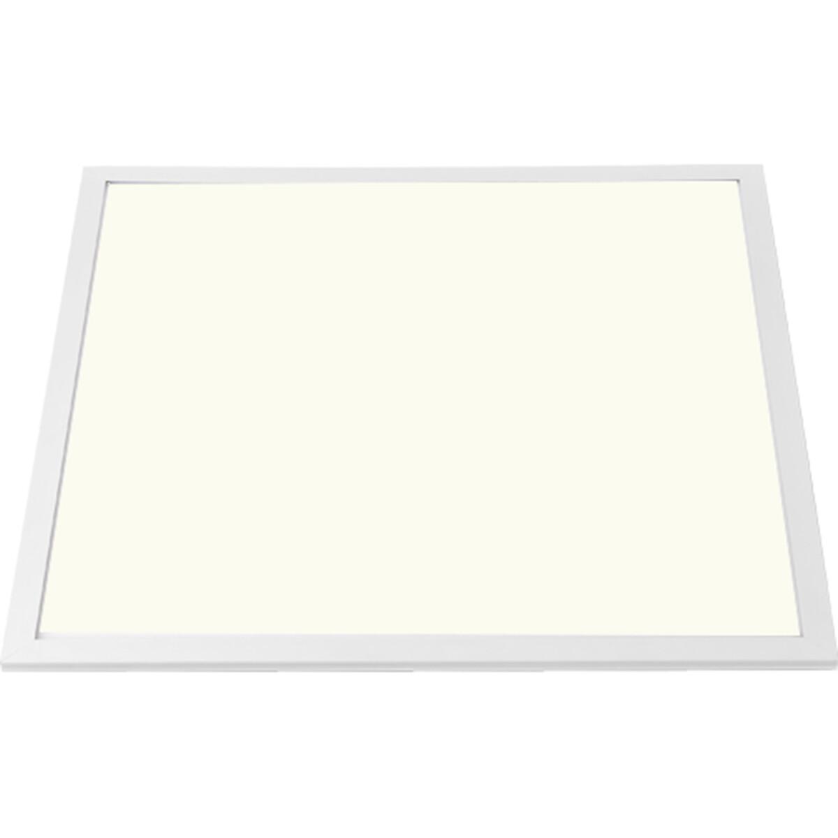 LED Paneel - Aigi - 62x62 Natuurlijk Wit 4000K - 40W Inbouw Vierkant - Mat Wit - Aluminium - Flikker