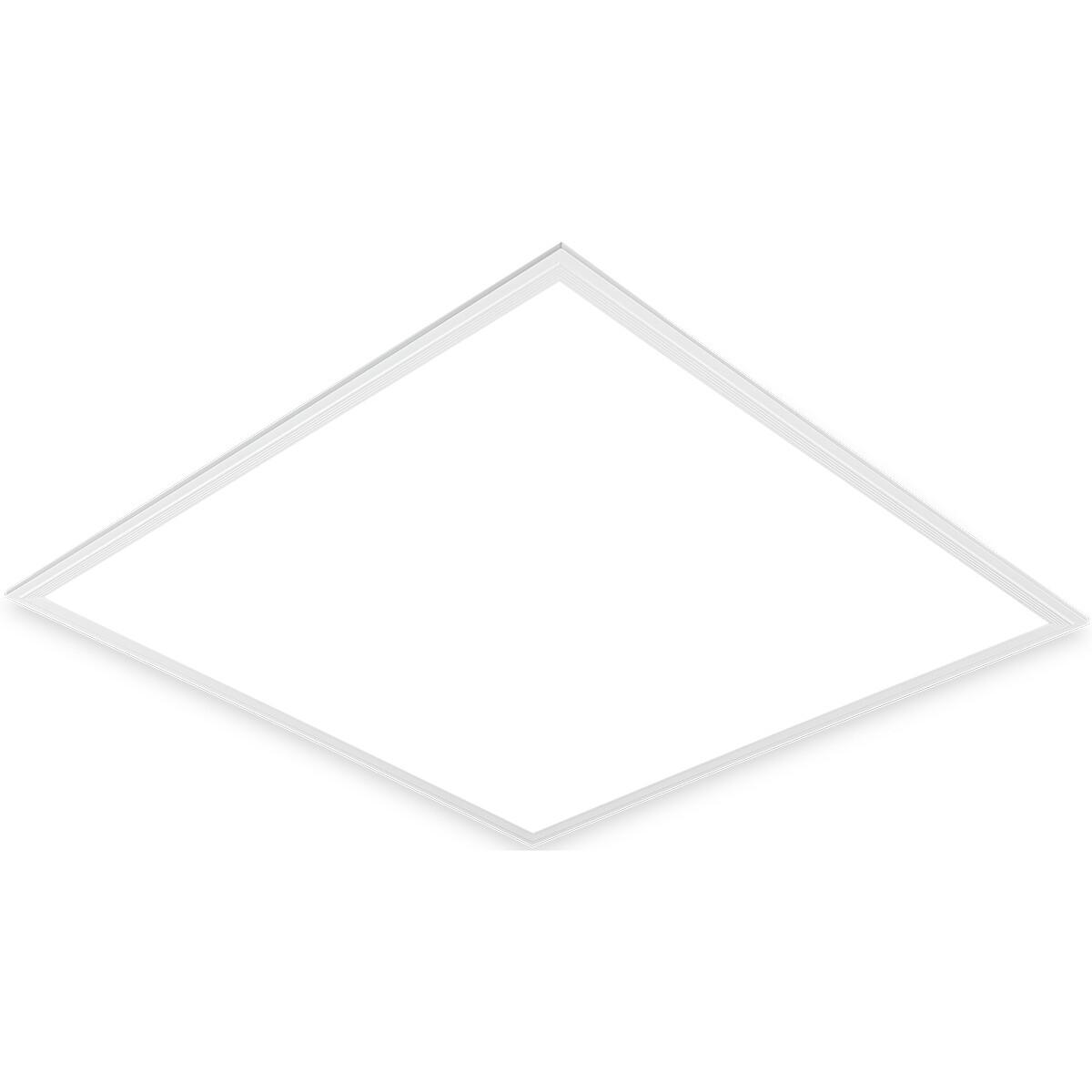 LED Paneel - Aigi Clena - Dimbaar - 60x60 Helder/Koud Wit 6000K - 40W Inbouw Vierkant - Mat Wit - Flikkervrij