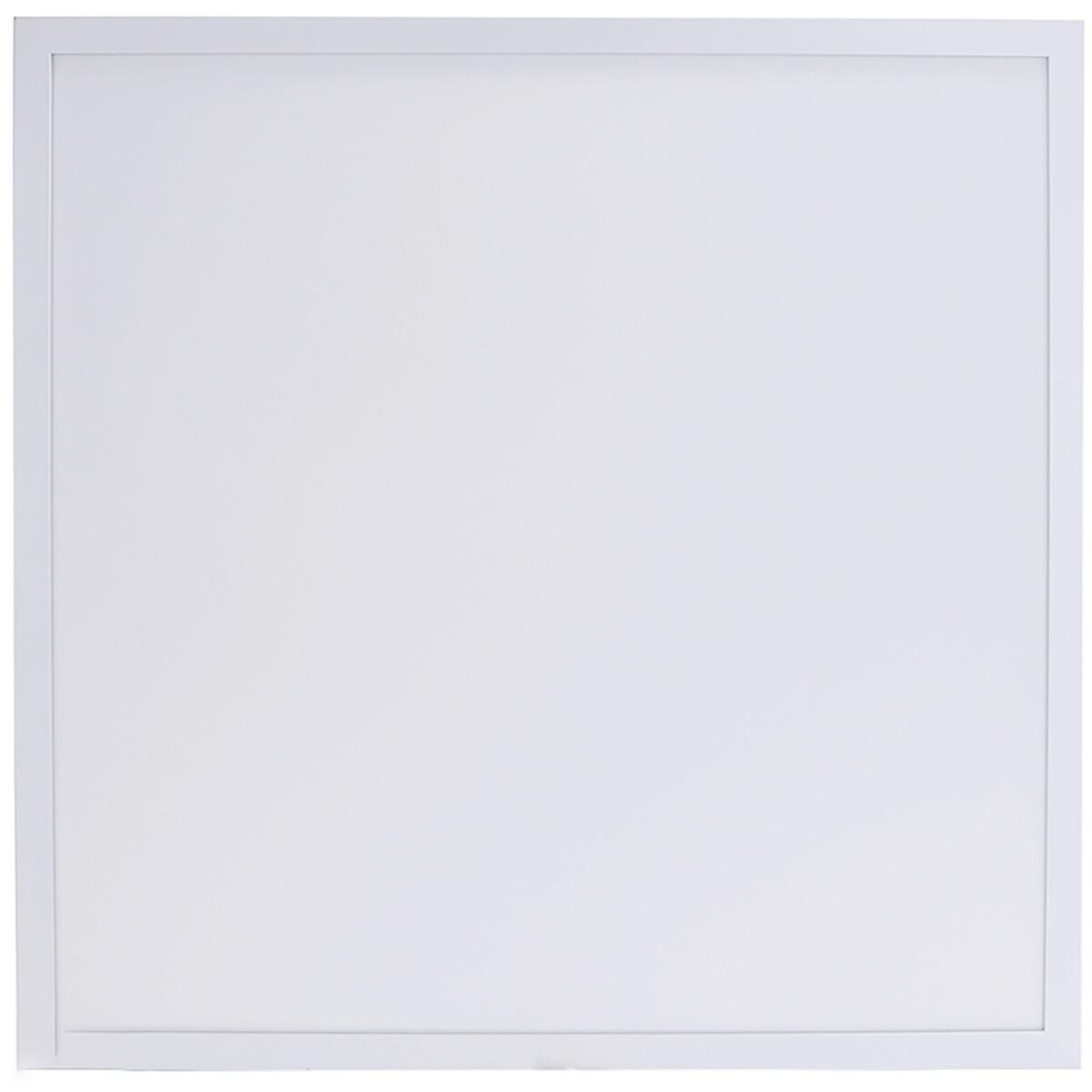 LED Paneel - Aigi Hyron - 60x60 - Aanpasbare Kleur CCT - 32W - Inbouw - Vierkant - Mat Wit - Aluminium - Flikkervrij