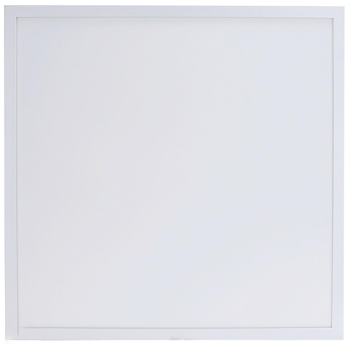 LED Paneel - Aigi Hyron - 62x62 - Aanpasbare Kleur CCT - 32W - Inbouw - Vierkant - Mat Wit - Alumini