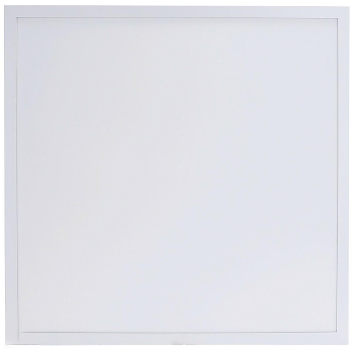 LED Paneel - Aigi Hyron - 62x62 - Aanpasbare Kleur CCT - 32W UGR19 - Inbouw - Vierkant - Mat Wit - A