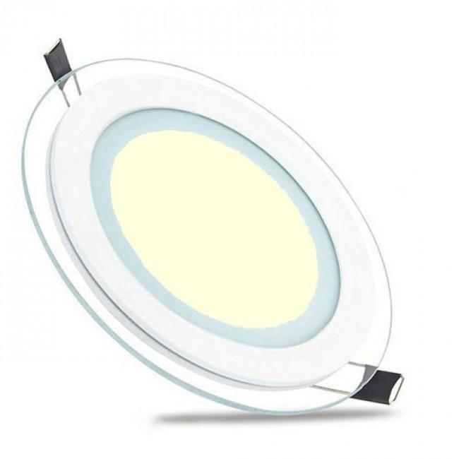 LED Downlight Slim - Inbouw Rond 15W - Warm Wit 3000K - Mat Wit Glas - Ø200mm