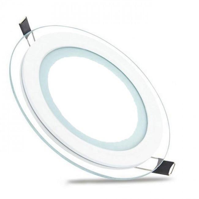 LED Downlight Slim - Inbouw Rond 15W - Helder/Koud Wit 6400K - Mat Wit Glas - Ø200mm