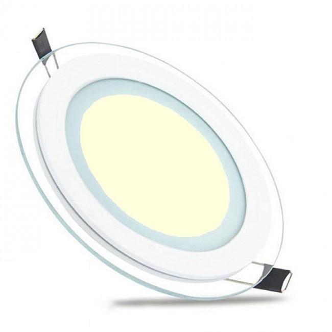 LED Downlight Slim - Inbouw Rond 12W - Warm Wit 3000K - Mat Wit Glas - Ø160mm