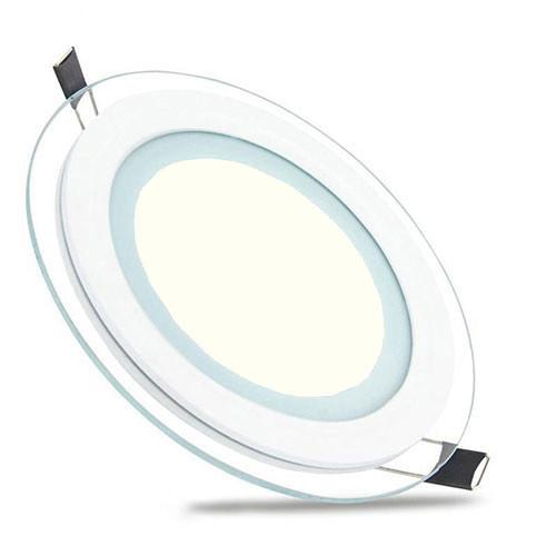 LED Downlight Slim - Inbouw Rond 6W - Natuurlijk Wit 4200K - Mat Wit Glas - Ø96mm