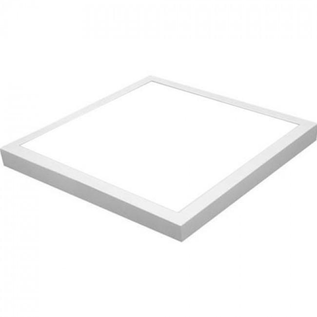 LED Paneel - Hotty - 60x60 Helder/Koud Wit 6400K - 40W Opbouw Vierkant - Mat Wit - Flikkervrij