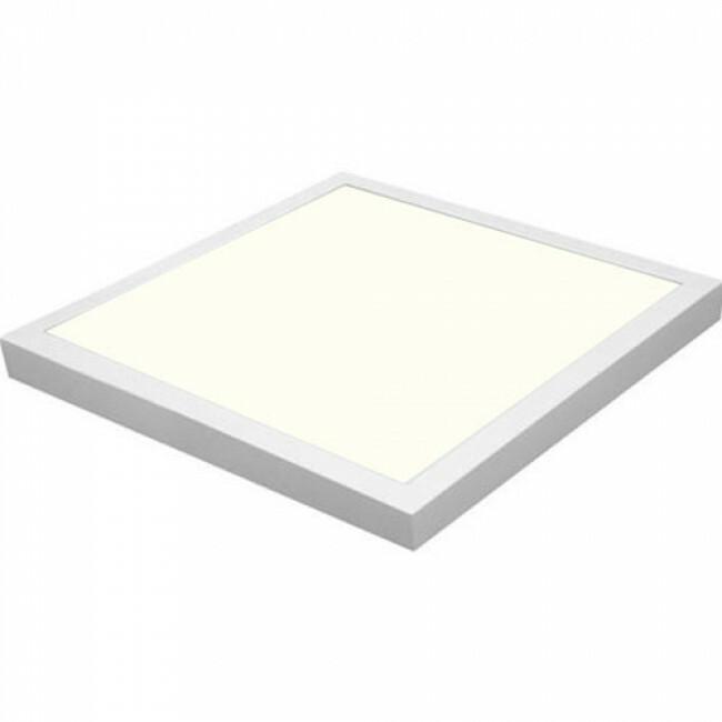 LED Paneel - Hotty - 60x60 Natuurlijk Wit 4200K - 40W Opbouw Vierkant - Mat Wit - Flikkervrij
