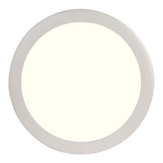 LED Paneel Slim - Ø30 Natuurlijk Wit 4200K - 24W Inbouw Rond - Mat Wit - Flikkervrij