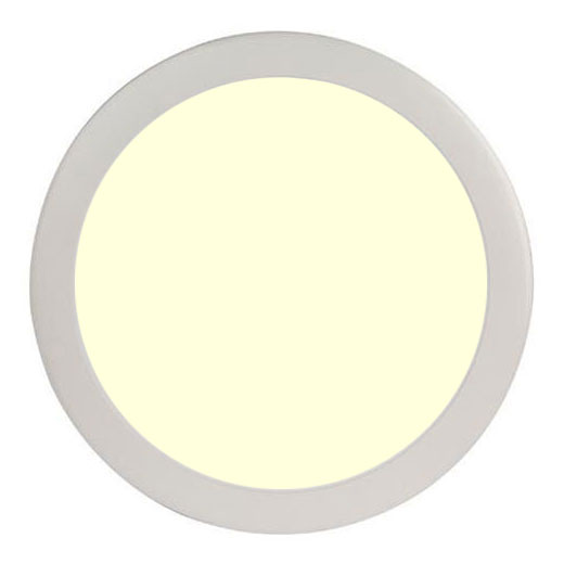 LED Paneel Slim - Ø30 Warm Wit 2700K - 24W Inbouw Rond - Mat Wit - Flikkervrij