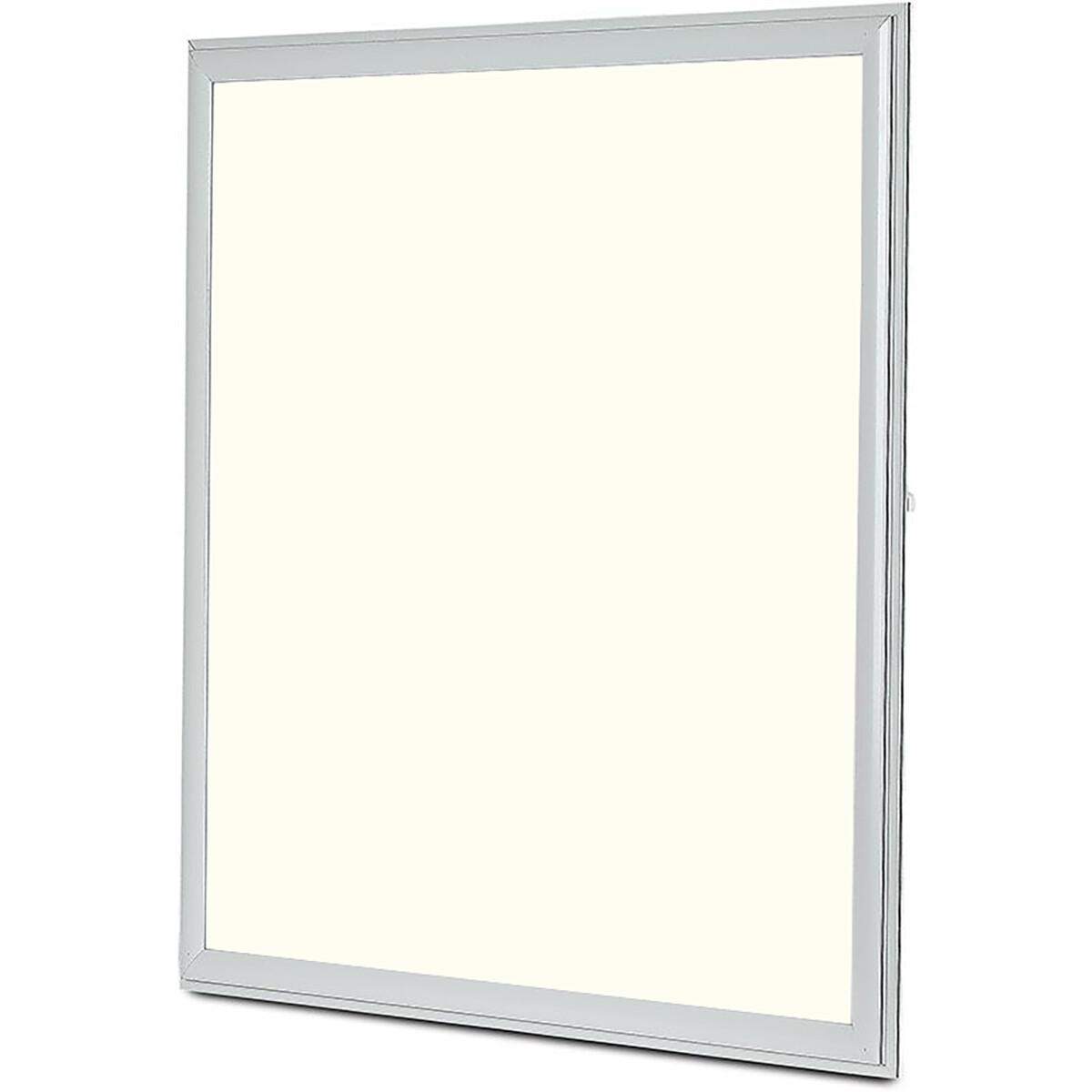 LED Paneel - Viron Ganto - 60x60 Natuurlijk Wit 4000K - 45W Inbouw Vierkant - Mat Wit - Aluminium