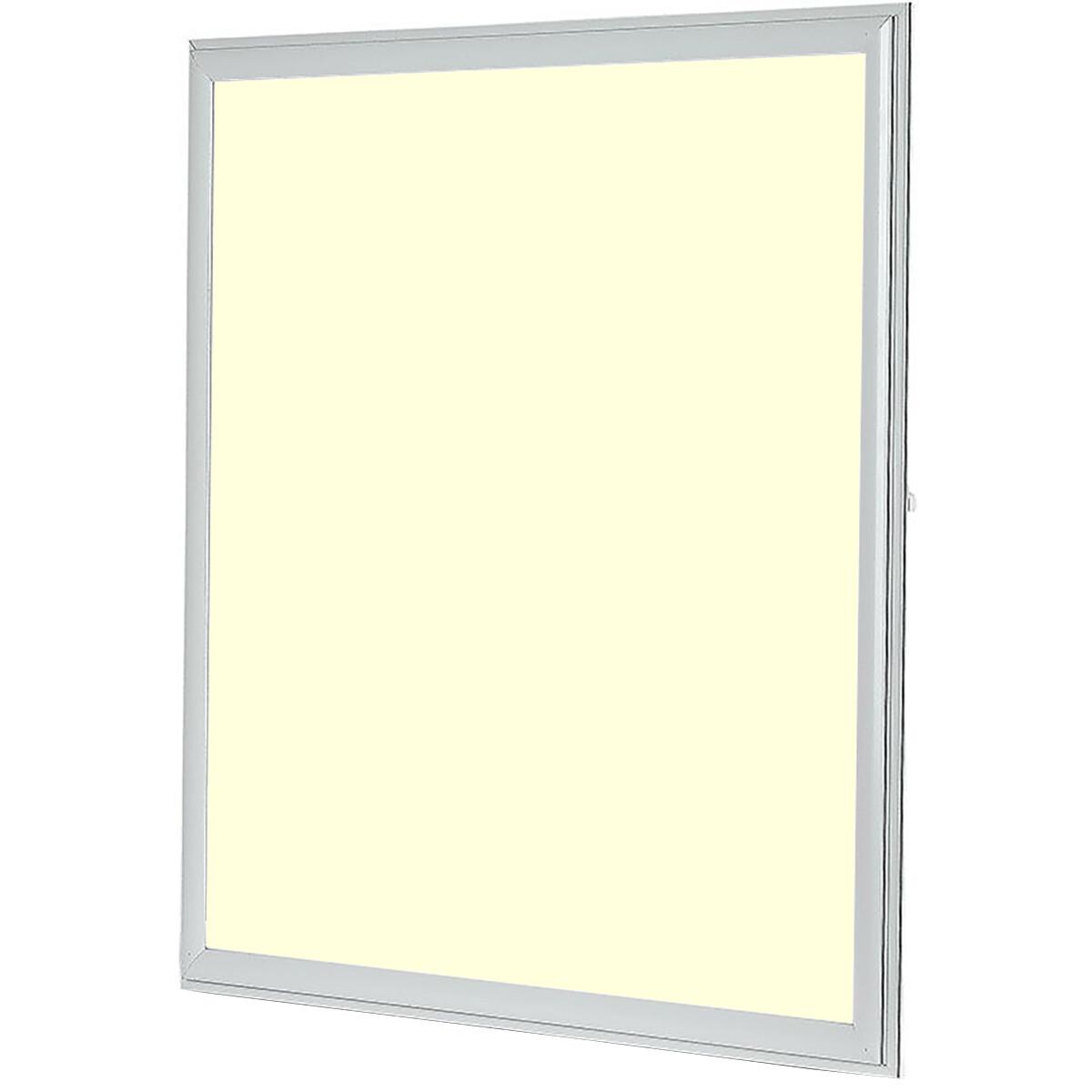 LED Paneel - Viron Ganto - 60x60 Warm Wit 3000K - 29W Inbouw Vierkant - Mat Wit - Aluminium