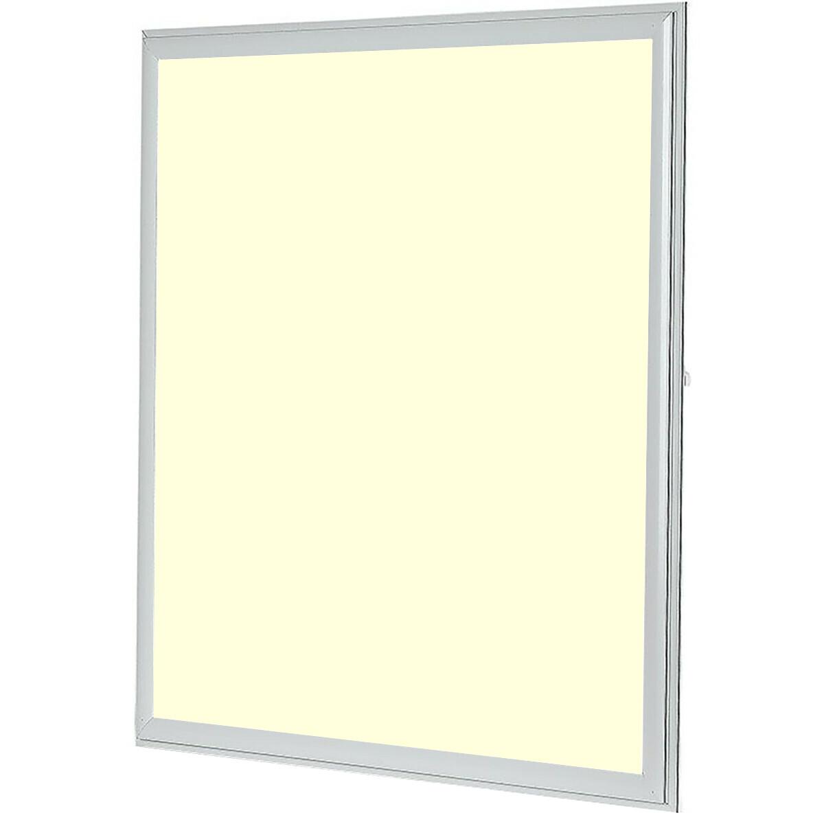 LED Paneel - Viron Ganto - 60x60 Warm Wit 3000K - 45W Inbouw Vierkant - Mat Wit - Aluminium