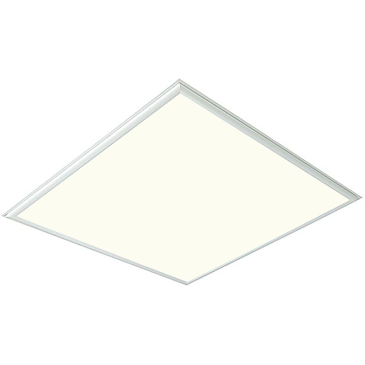 LED Paneel - Viron Viska - 60x60 Natuurlijk Wit 4000K - 36W Inbouw Vierkant - Mat Wit - Aluminium