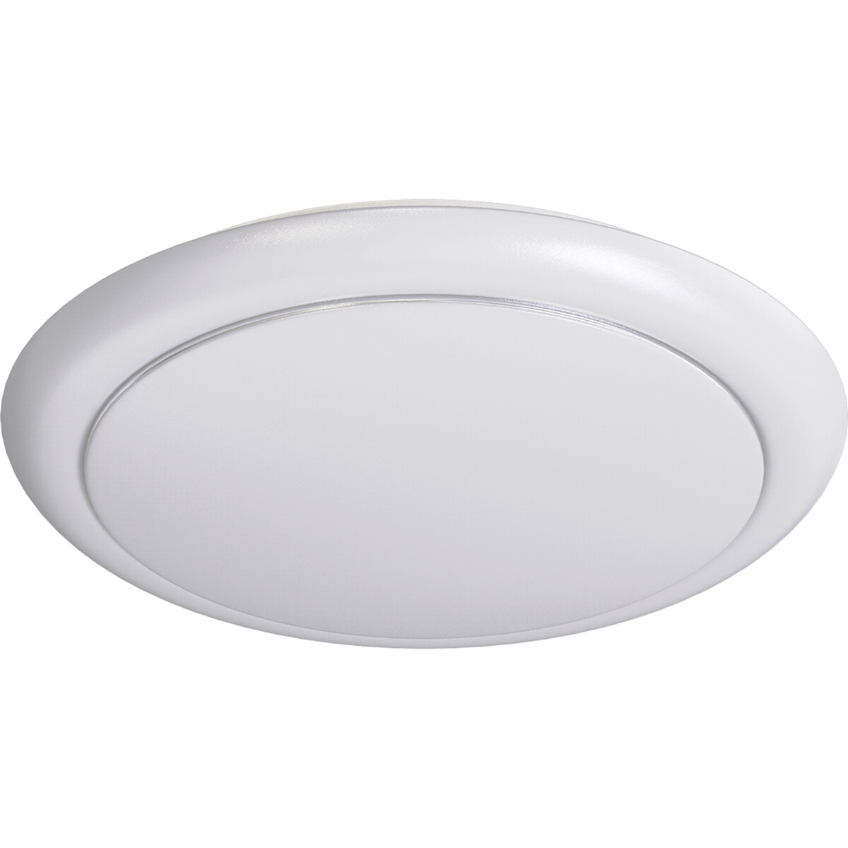 LED Plafondlamp - Aigi Ala - Opbouw Rond 20W - Natuurlijk Wit 4000K - Mat Wit - Aluminium