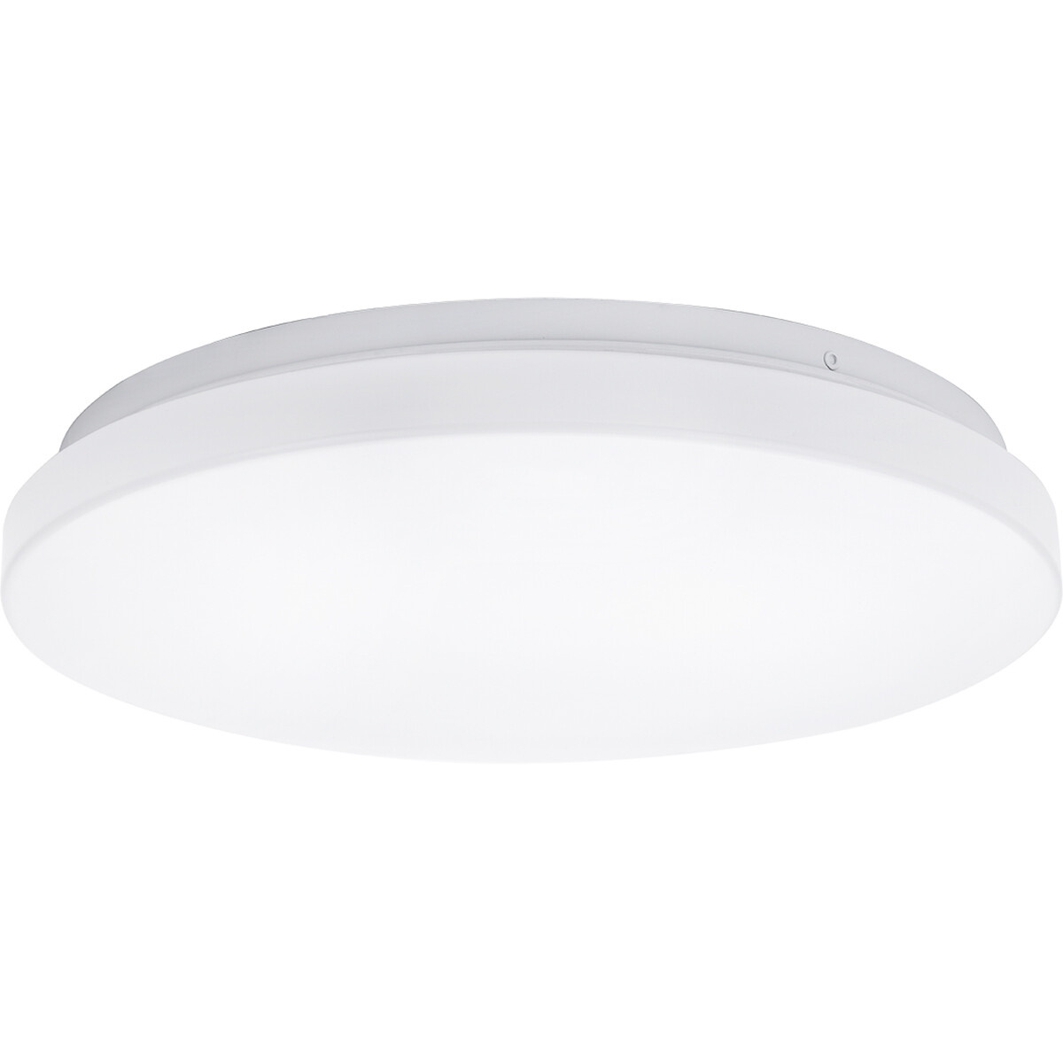 LED Plafondlamp - Aigi Alona - Opbouw Rond - 12W - Warm Wit 3000K - Mat Wit - Kunststof