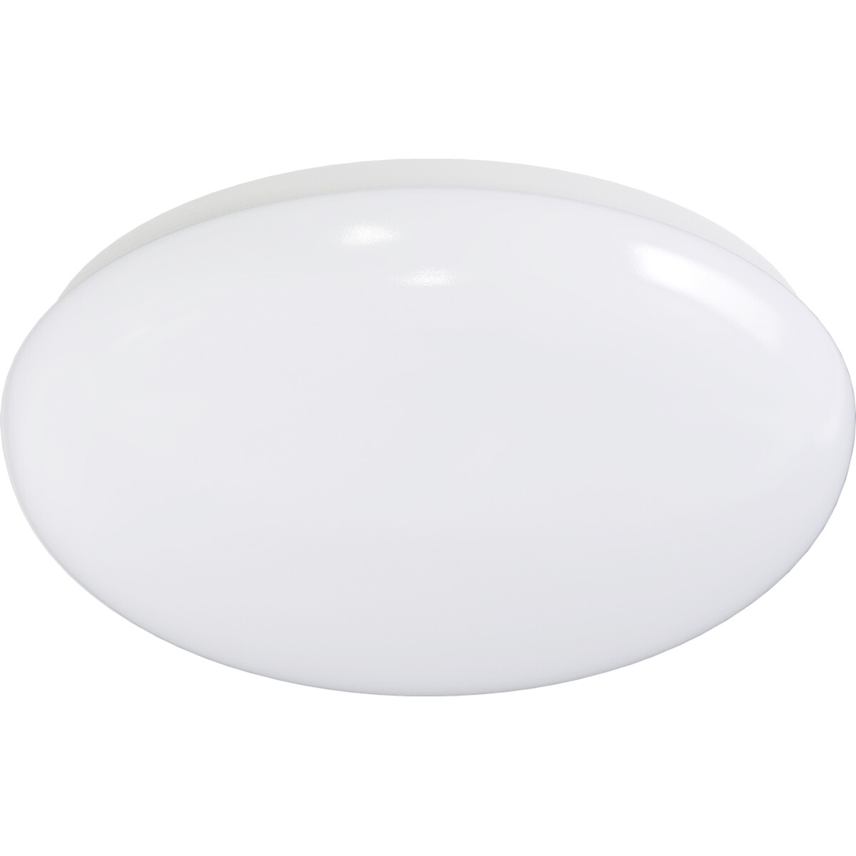 LED Plafondlamp - Aigi Arory - Opbouw Rond - 12W - Helder/Koud Wit 6300K - Mat Wit - Kunststof
