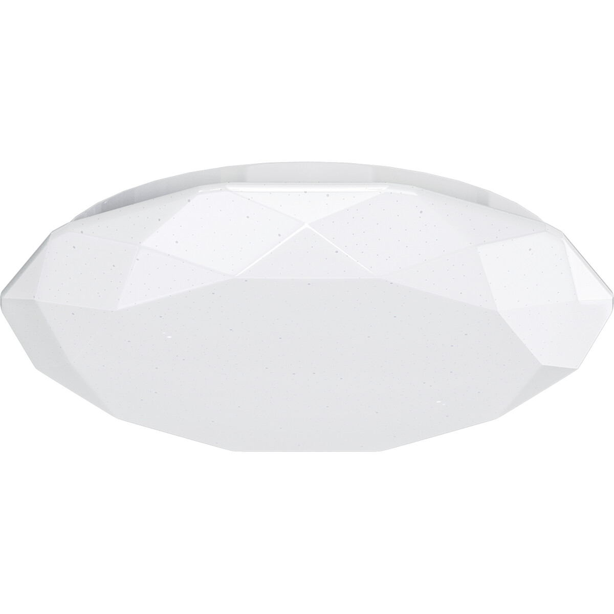 LED Plafondlamp - Aigi Dian - Opbouw Rond 20W - Helder/Koud Wit 6500K - Mat Wit - Aluminium