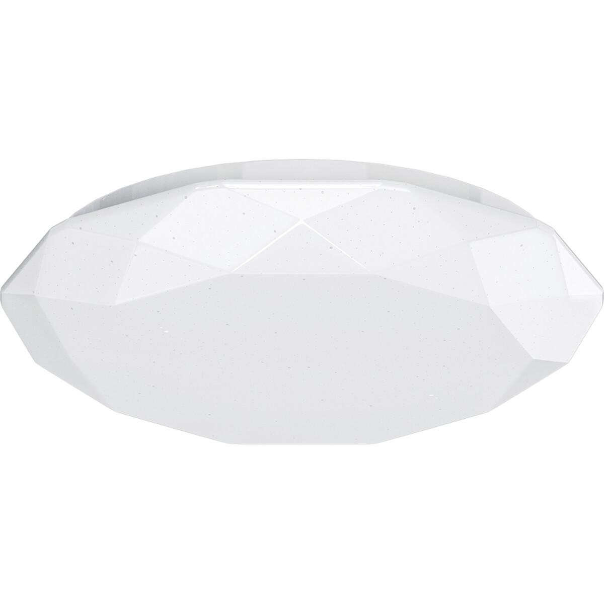 LED Plafondlamp - Aigi Dian - Opbouw Rond 20W - Warm Wit 3000K - Mat Wit - Aluminium
