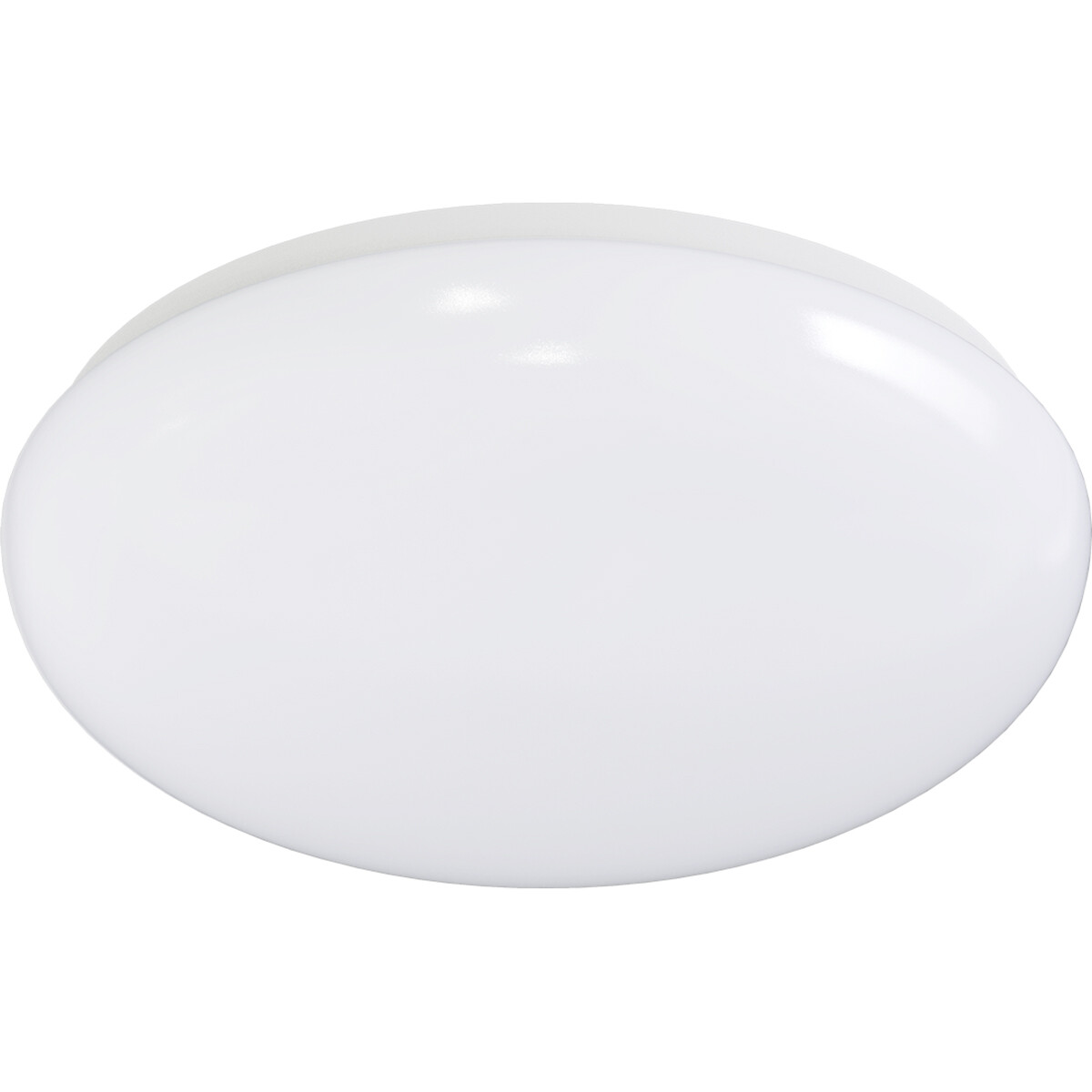 LED Plafondlamp - Aigi Monilo - Opbouw Rond - 24W - Aanpasbare Kleur - Mat Wit - Staal