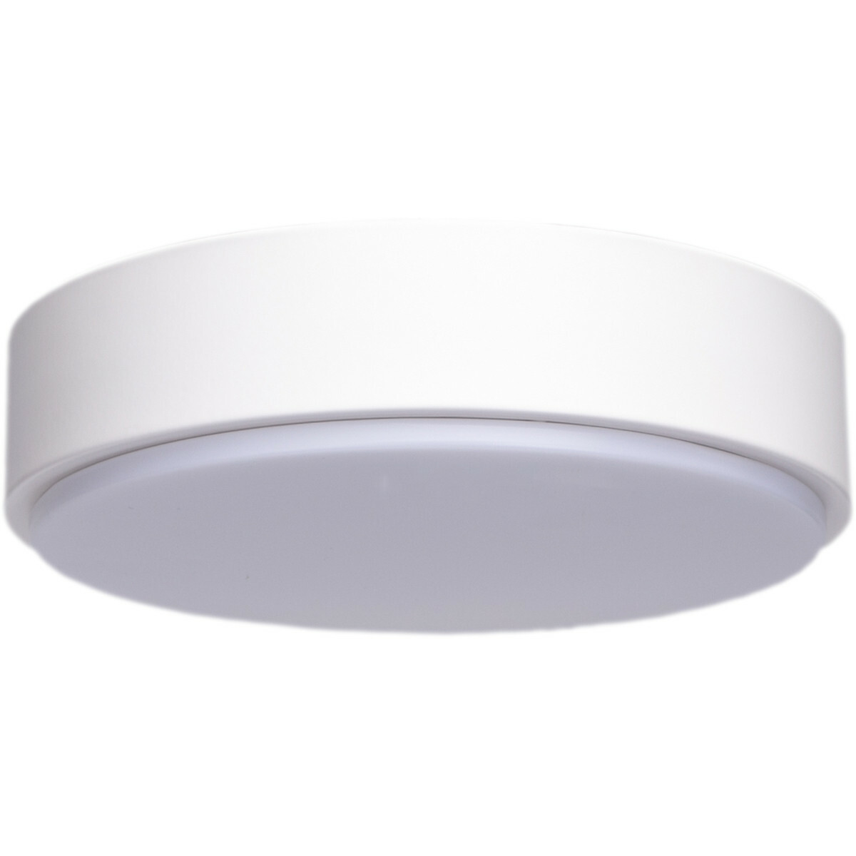 LED Plafondlamp - Aigi Santi - Opbouw Rond 24W - Helder/Koud Wit 6500K - Mat Wit - Aluminium