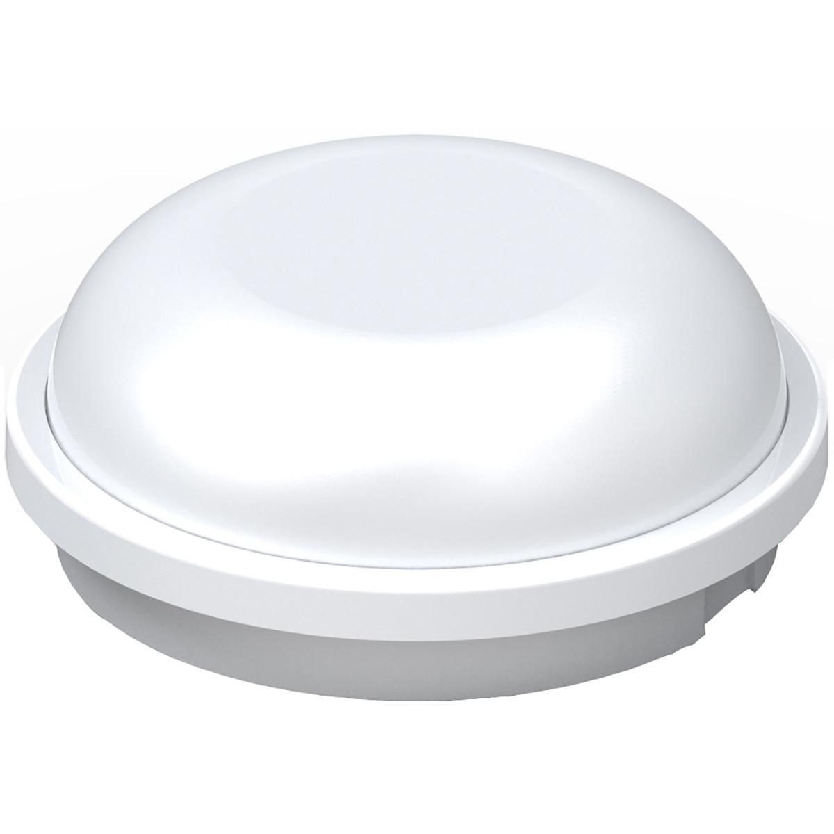 LED Plafondlamp - Artony - Opbouw Rond - Waterdicht IP65 - Natuurlijk Wit 4200K - Mat Wit Kunststof