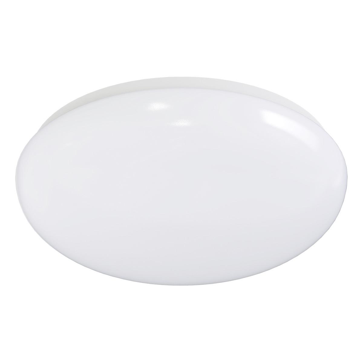 LED Plafondlamp met Bewegingssensor - Aigi - Opbouw Rond 12W - Helder/Koud Wit 6500K - 360° - Mat Wi