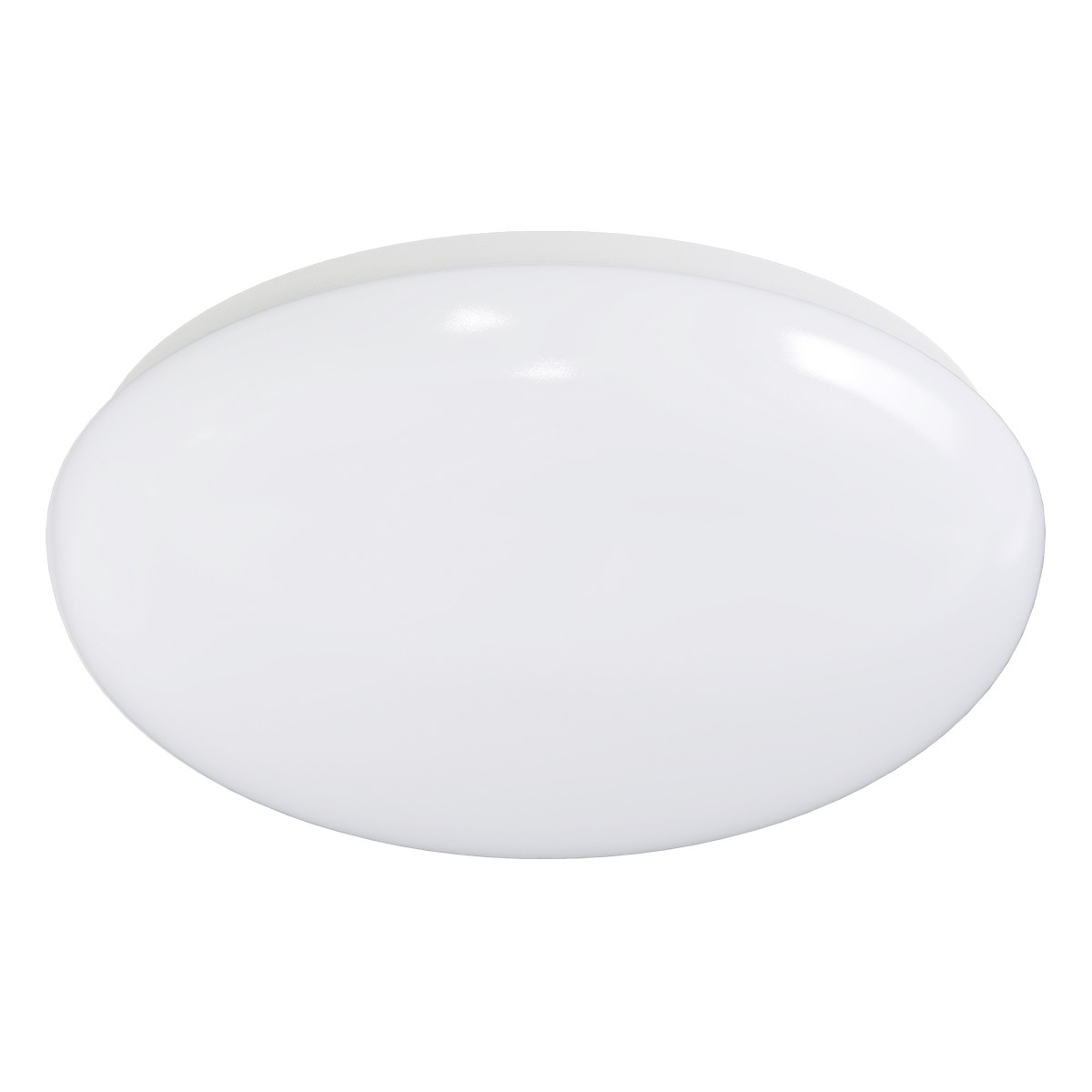 LED Plafondlamp met Bewegingssensor - Aigi - Opbouw Rond 12W - Warm Wit 3000K - 360° - Mat Wit Alumi