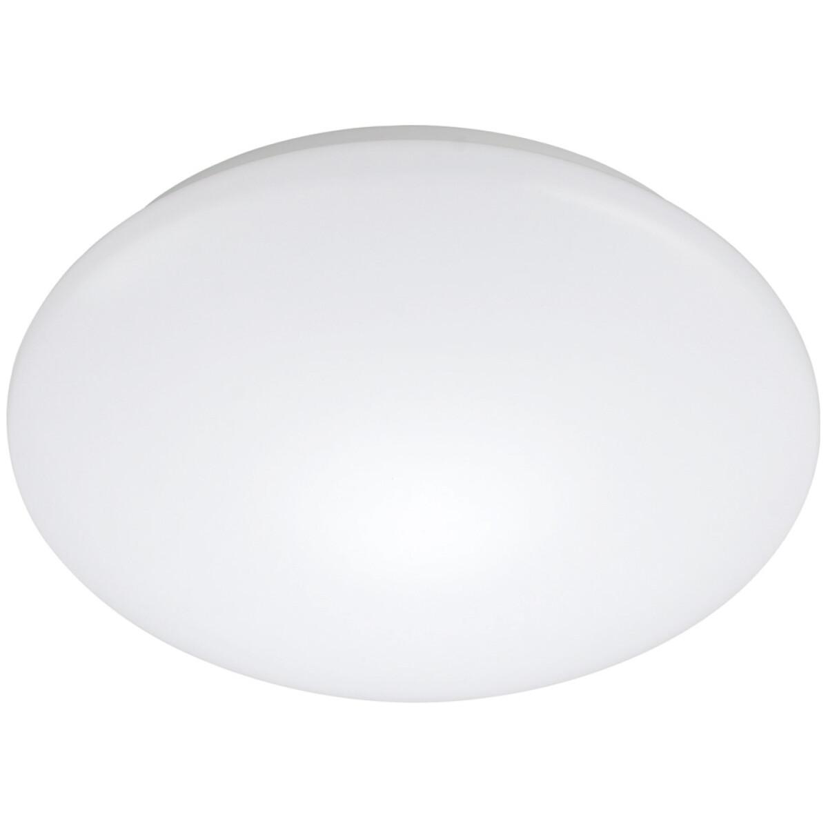 LED Plafondlamp met Bewegingssensor - Strum - 24W - Opbouw Rond - Natuurlijk Wit 4200K - 360° - Mat