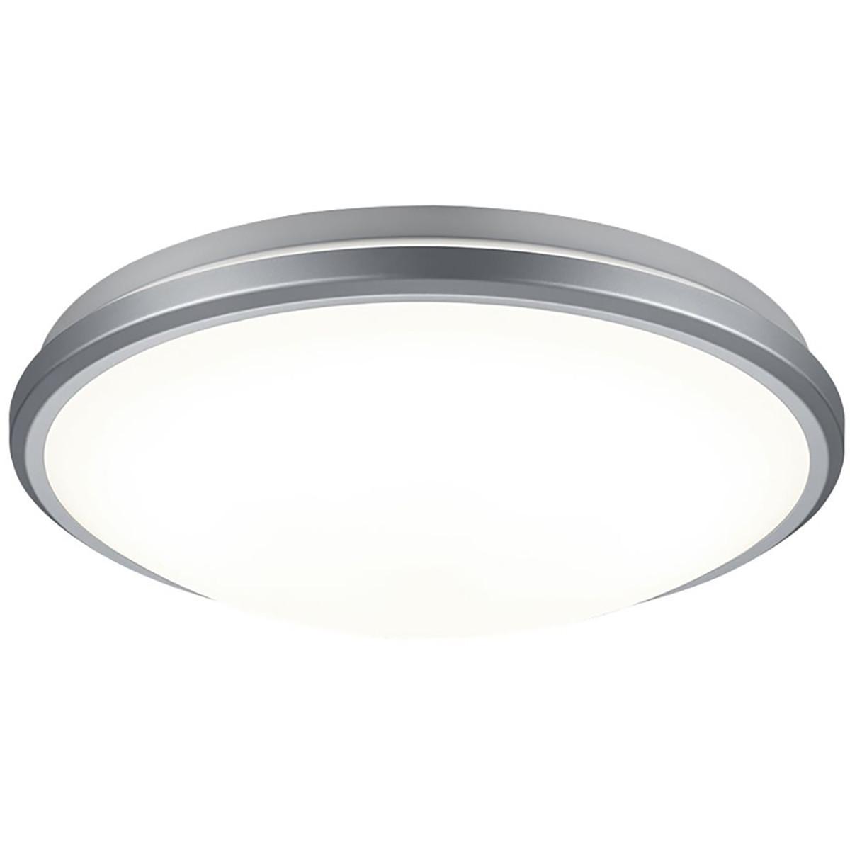 LED Plafondlamp met Bewegingssensor - Trion Alca - Opbouw Rond 12W - Warm Wit 3000K - 360° - Mat Tit