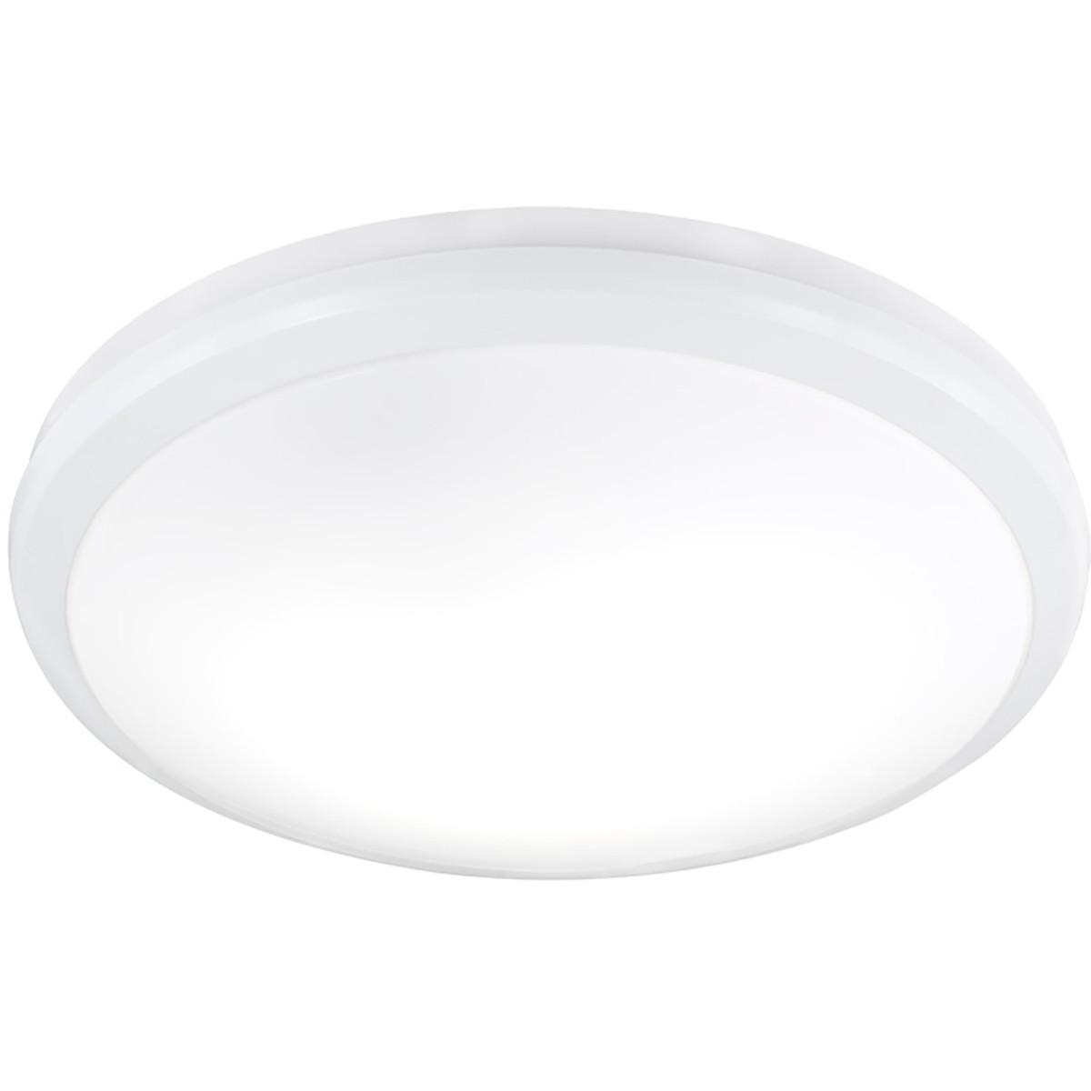 LED Plafondlamp met Bewegingssensor - Trion Avi - Opbouw Rond 5W - Warm Wit 3000K - 360° - Mat Grijs