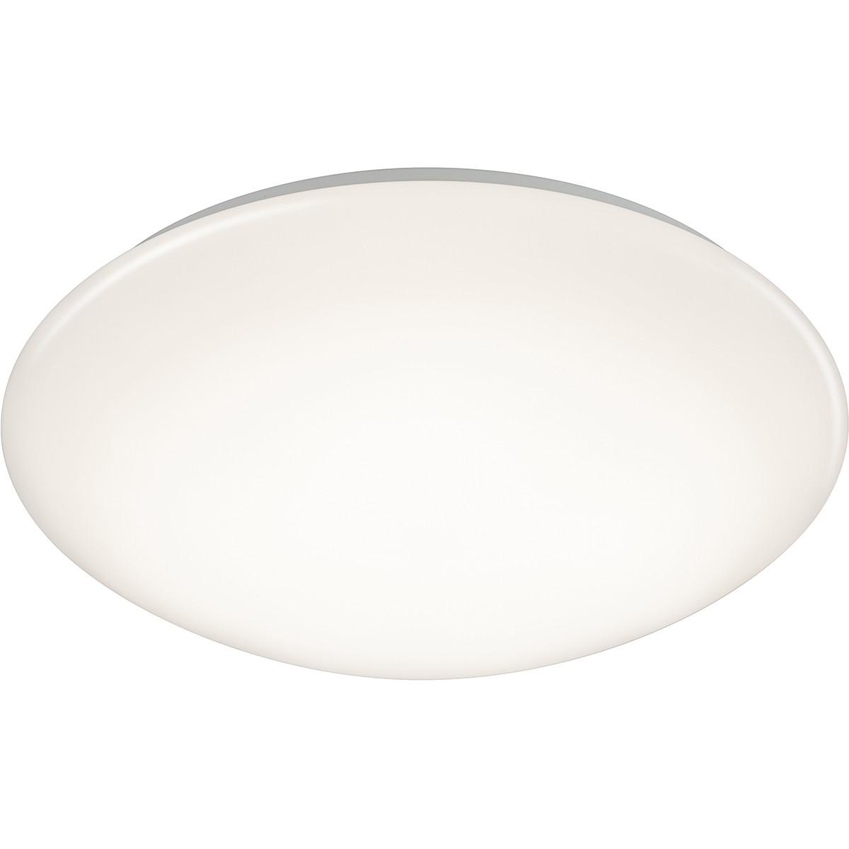 LED Plafondlamp met Bewegingssensor - Trion Poly - Opbouw Rond 12W - Spatwaterdicht IP44 - Warm Wit