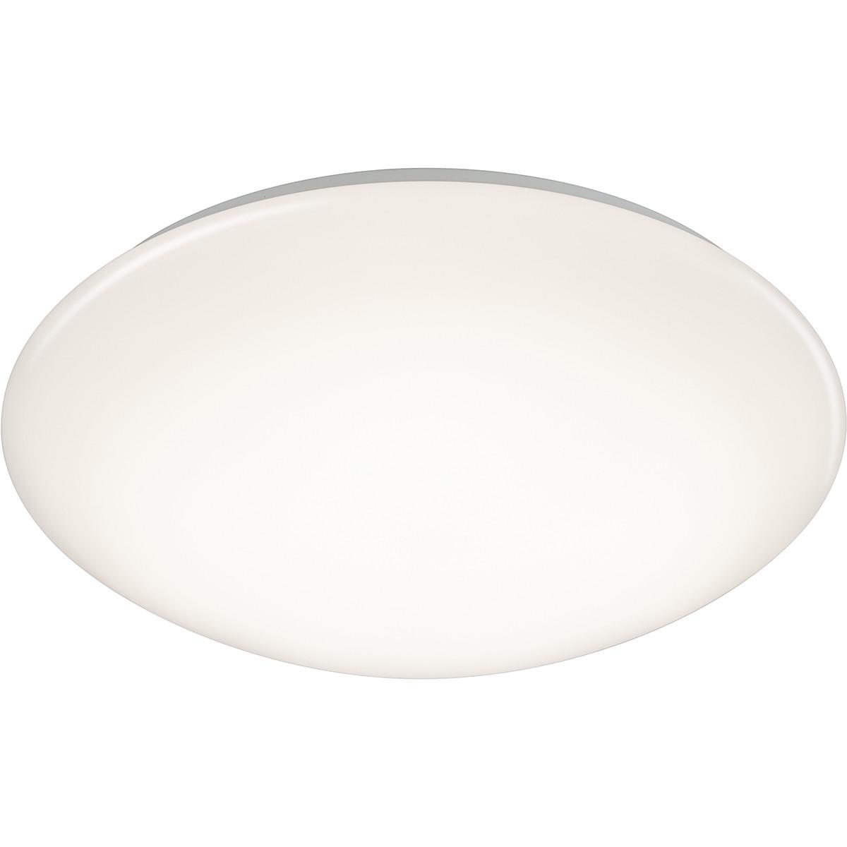 LED Plafondlamp met Bewegingssensor - Trion Poly - Opbouw Rond 18W - Spatwaterdicht IP44 - Warm Wit