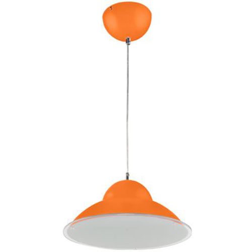 LED Plafondlamp - Plafondverlichting - Anta - 15W - Natuurlijk Wit 4000K - Oranje Aluminium