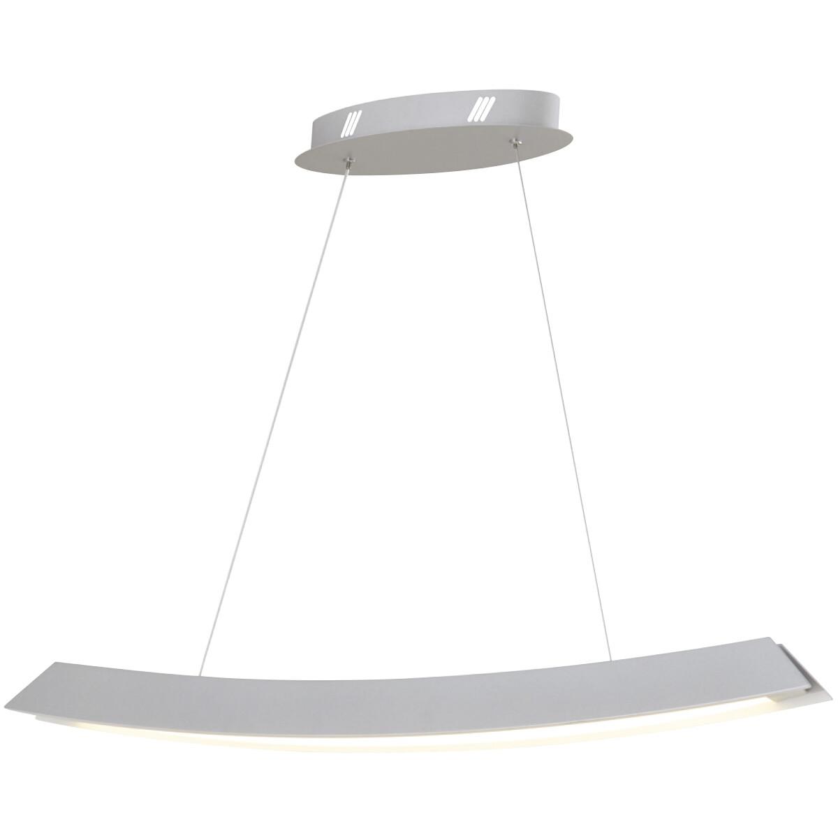 LED Plafondlamp - Plafondverlichting - Casto - 35W - Natuurlijk Wit 4000K - Wit Aluminium