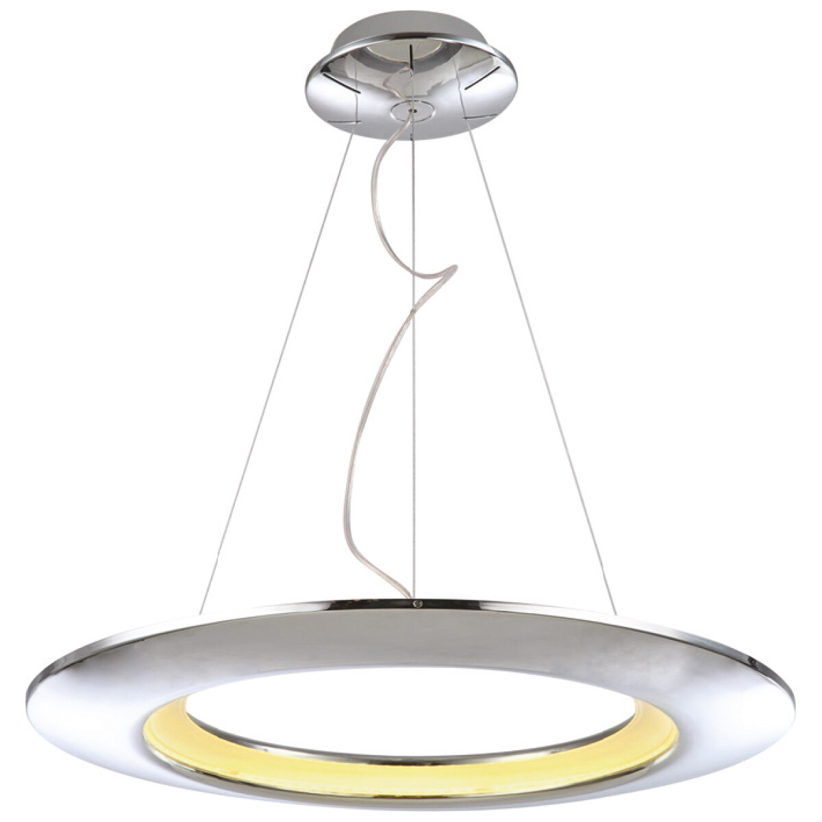 LED Hanglamp - Hangverlichting - Concepty - 35W - Natuurlijk Wit 4000K - Chroom Aluminium