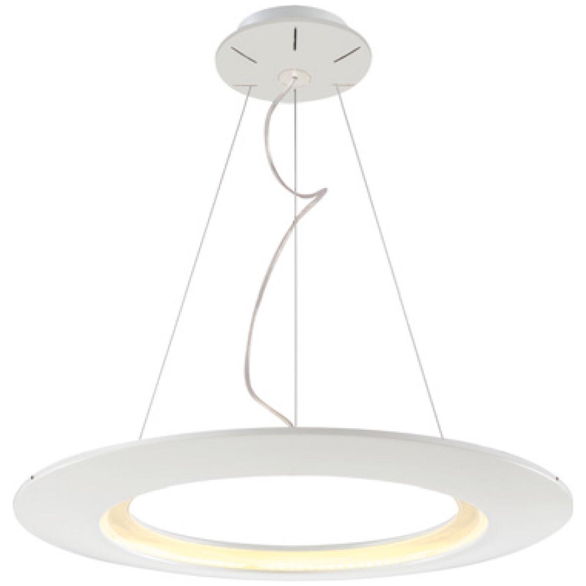 LED Hanglamp - Hangverlichting - Concepty - 35W - Natuurlijk Wit 4000K - Wit Aluminium
