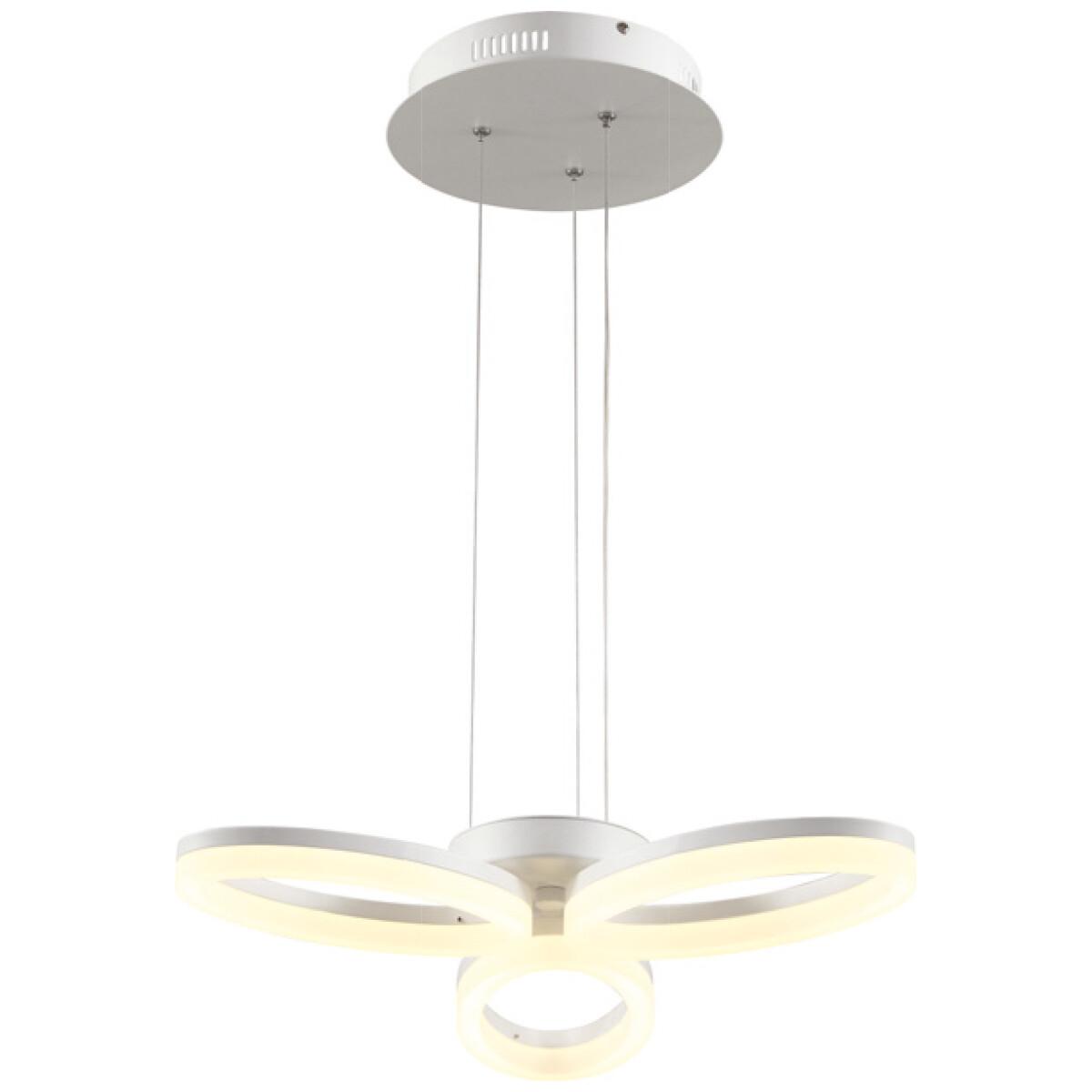 LED Plafondlamp - Plafondverlichting - Luxury - 24W - Natuurlijk Wit 4000K - Wit Aluminium