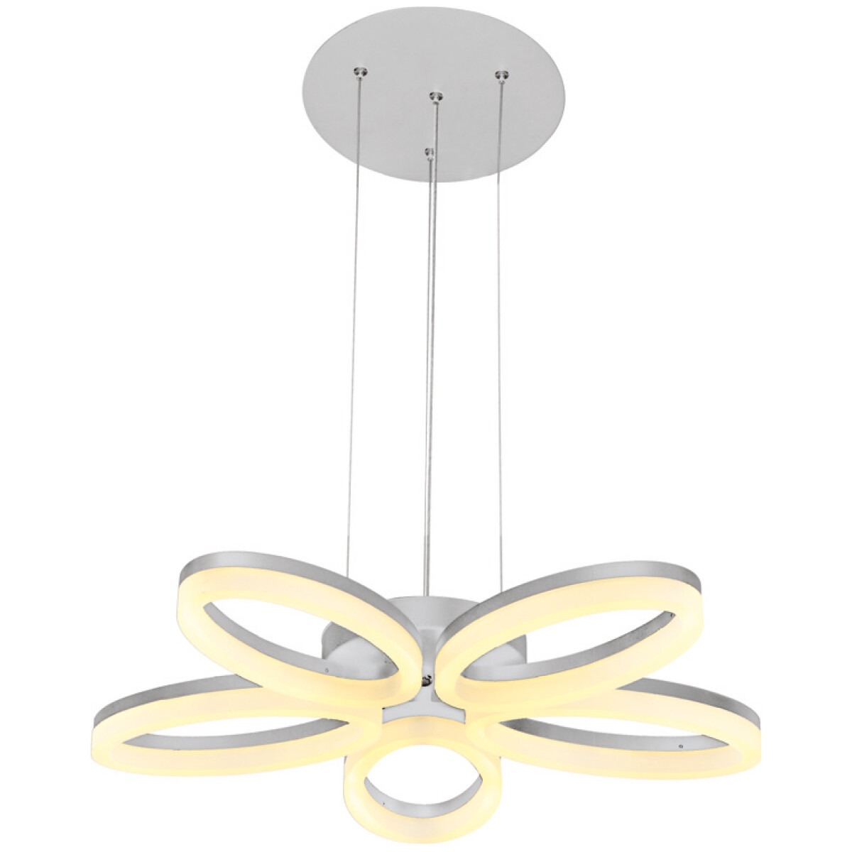 LED Plafondlamp - Plafondverlichting - Luxury - 40W - Natuurlijk Wit 4000K - Wit Aluminium